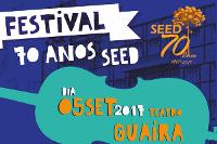 Banner do festival seed 70 anos